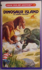 choose your own adventure 138: dinosaur island by Chris Drum. CC by 2.0.