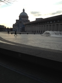 Christian Science Center courtyard/fountain.
