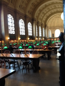 Boston Public Library reading room.