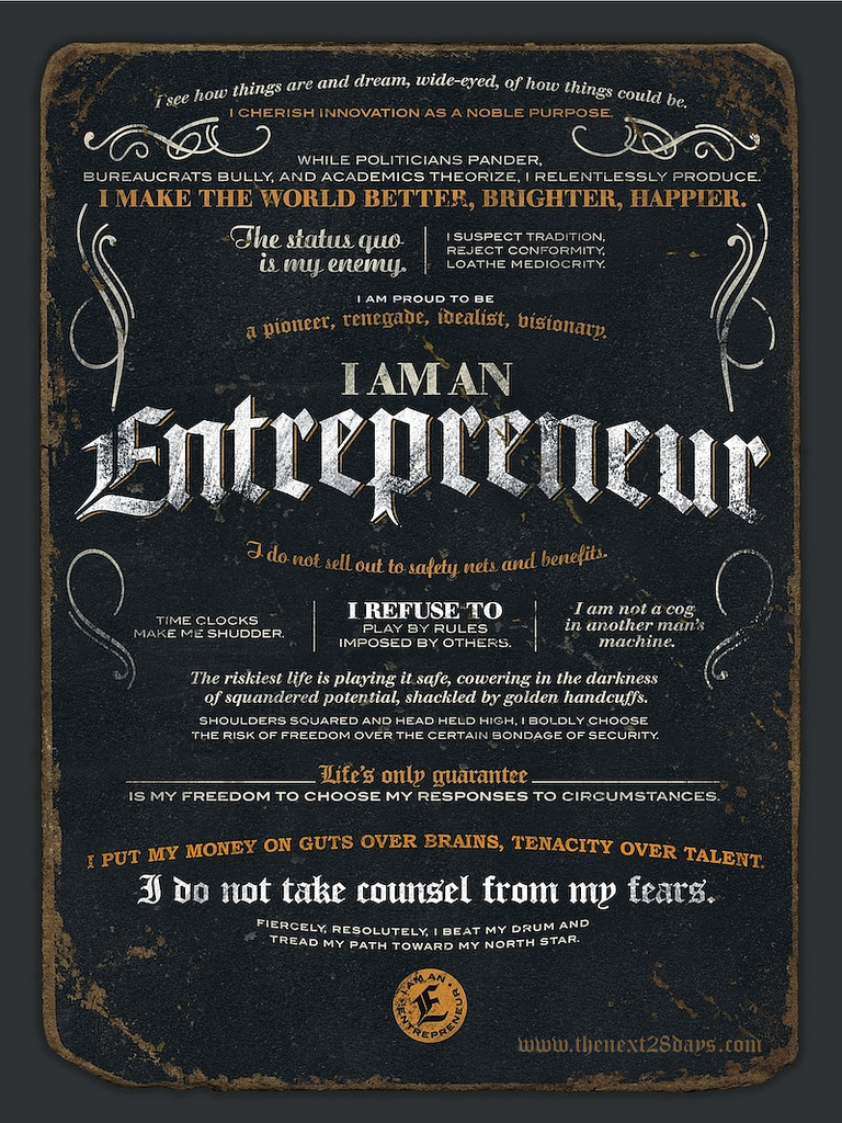 I AM AN ENTREPRENEUR by Next TwentyEight. CC BY 2.0.